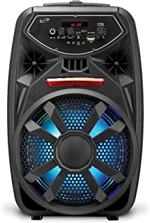 iLive Wireless Tailgate Party Speaker, LED Light Effects, Built-in Rechargeable Battery, Black (ISB380B)
