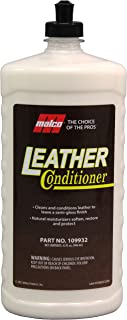 Malco Leather Conditioner, Cleans and Conditions Leather Surfaces, Natural Moisturizers Soften, Restore and Protect Leather, 32 oz (109932)