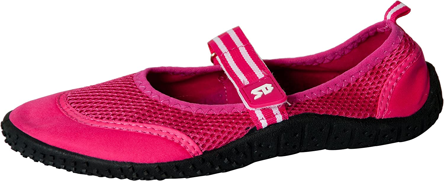Starbay Women's Mary Janes Athletic Mesh Aqua Flats Water shoes Fuchsia 10