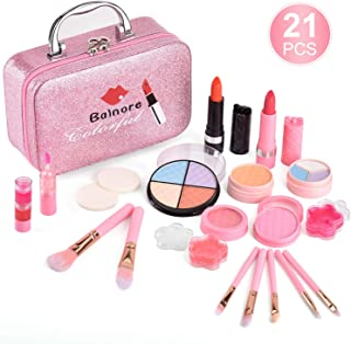 balnore 21 Pcs Washable Makeup Toy Set, Safe & Non-Toxic,Real Cosmetic Beauty Set for Kids Play...