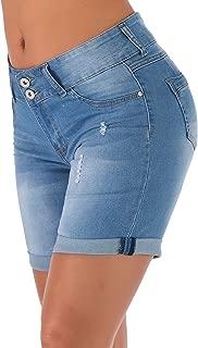 high waisted distressed bermuda shorts
