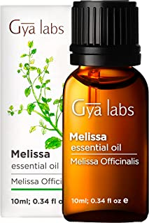 Gya Labs Melissa Essential Oil for Skin Care, Stress Relief and Sleep - Topical for Dry and Irritated Skin - Diffuse to Re...
