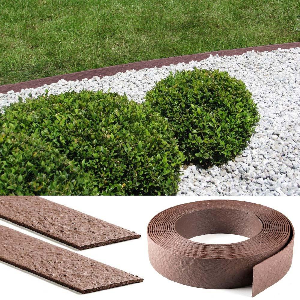 Bordillo para césped envolvente; rollo de 25 cm: Amazon.es: Jardín