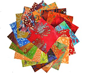 "20 10"" Layer Cake Batiks Quilt Fabric Squares # 2"