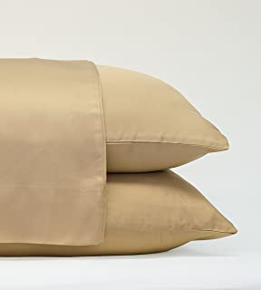 Cariloha Classic Bamboo Pillow Cases 2 Piece Pillowcase Set - Softest Pillow Cases - 100% Viscose from Bamboo (Standard, Sandy Shore)