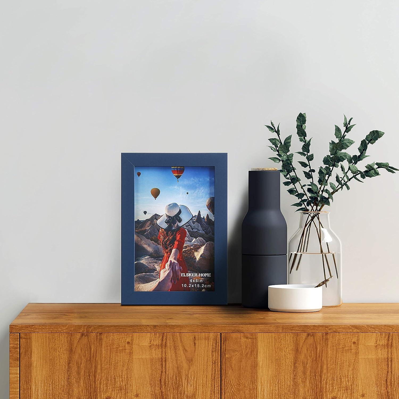 2 Pack for Document//Diploma Frame Includes Hanging Hardware and Desktop Easel Semi-Tempered Glass Black Sturdy Wood Composite Picture Frame ELSKER/&HOME 8/×10 Certificate Frame