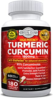 Sponsored Ad - Turmeric Curcumin with Bioperine 1800mg - Highest Potency, Best for Joint Pain Relief, Heart Health and Ant...