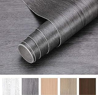 iKINLO Holzoptik Klebefolie selbstklebend Folie Holz Möbelfolie 5  0.61M PVC DIY Vintage Dekorfolie Küchenschrank Aufkleber für Möbel Schrank Tische Wand Tapete