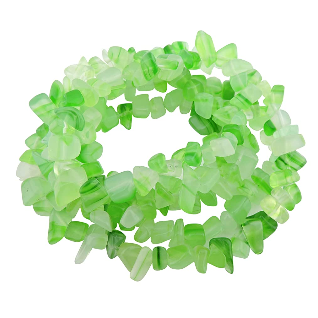 COIRIS 33'' Strand 5-8MM Nice Green Agate Loose Chips Gemstone Beads for Jewelry DIY or Making & Design (St-1031)
