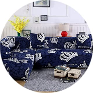 2 pcs Covers for Corner Sofa Sectional Couch Slipcovers Universal Elastic Stretch L Shaped Sofa Covers Furniture Protector SC022,3,1Seater and 2Seater