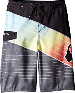 Slash Logo Boardshorts (Big Kids)
