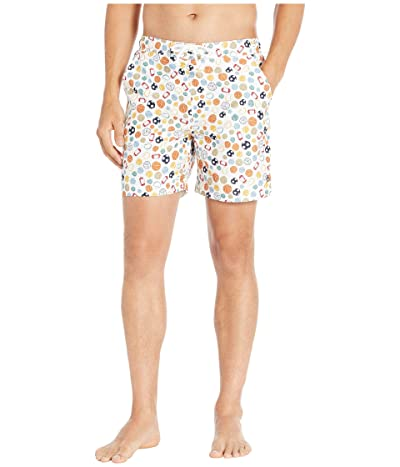 Original Penguin Non-Stretch 1/2 Elastic Volley (Bright White) Men