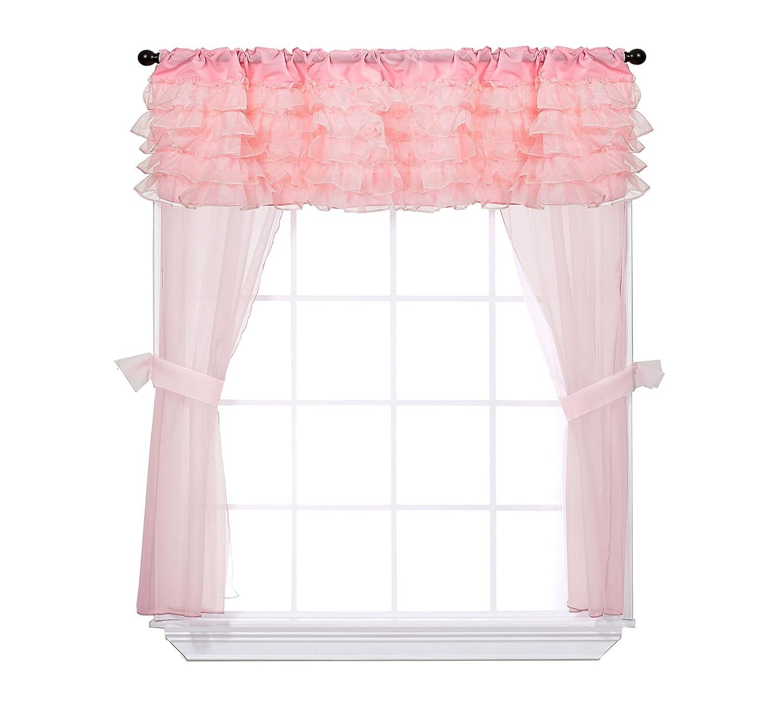 Baby Doll Bedding Elegant Layered 5 Piece Fashion Curtain and Valance Window Set