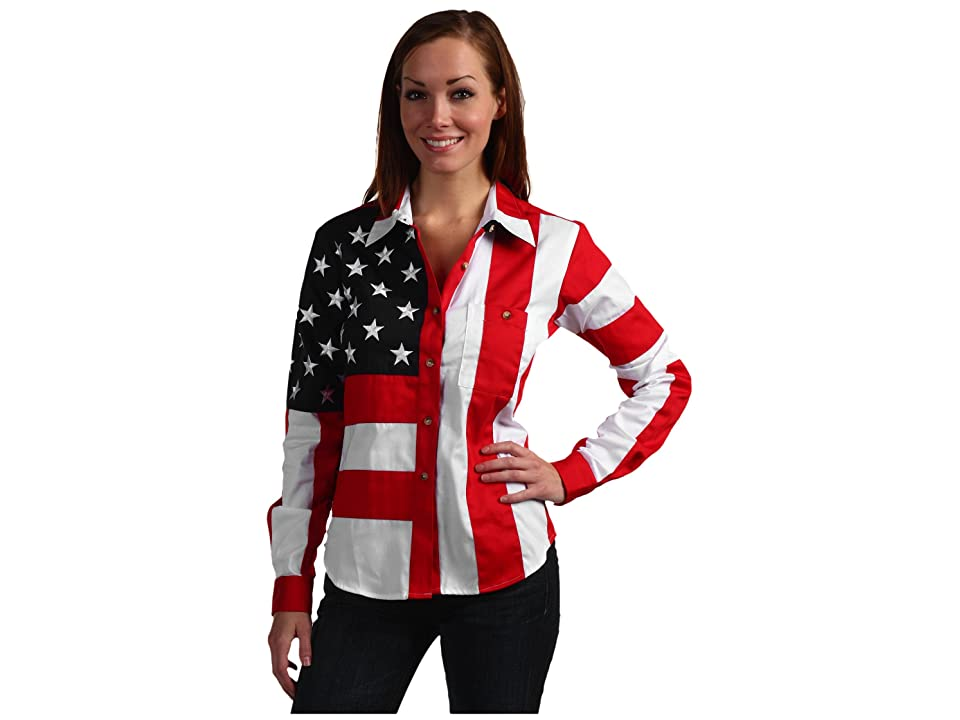 Scully Flag Shirt (Red/White/Blue) Women