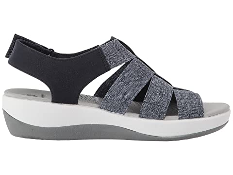 Sast Sale Online Newest Cheap Online Clarks Arla Shaylie Navy/White Heathered Elastic Amazing Price For Sale Get Authentic Cheap Price 2018 New For Sale mDPOrgq