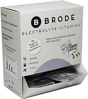 Brode Electrolyte Vitamin - Portable Zero-Sugar Electrolyte Tablets - for Sports, Hangovers, Jetlag, 5 Essential Electrolytes + 9 Vitamins (100-Pack)