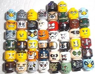 10 cabezas de Lego auténticas