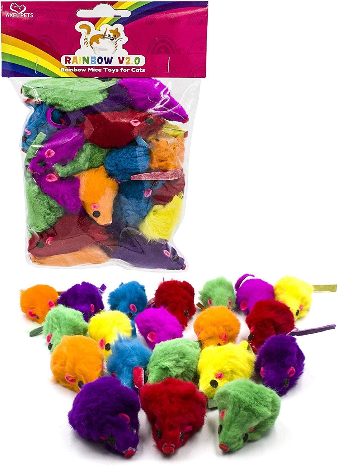 AXEL PETS 20 Spring new work Colorful Rainbow V2.0 and Rattle with S Mice Catnip Limited price