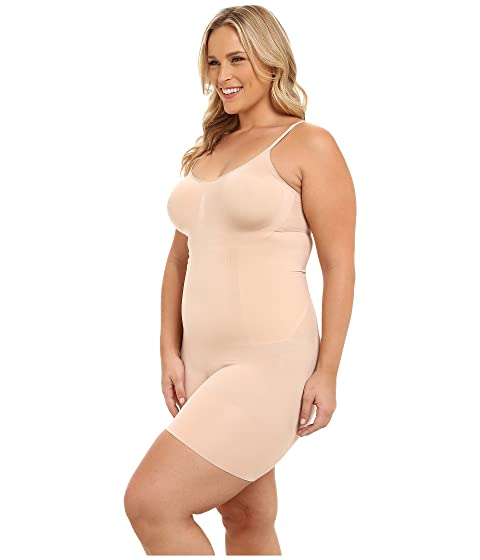 35c51a95feda5 Spanx Plus Size OnCore Mid-Thigh Bodysuit at Zappos.com