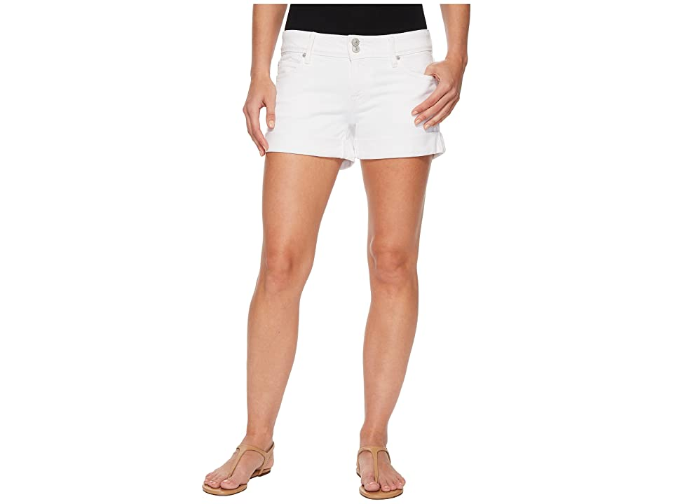 91f3389e2f Hudson Croxley Mid Thigh Rolled Shorts in White (White) Women