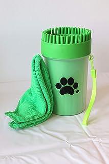 M, Blu ProductScout Italia Pulisci Zampe Cane Portatile Lava e Spazzola Le Zampe dei Cani Senza Usare Prodotti nocivi