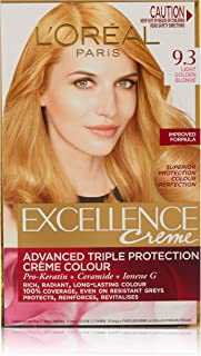L'Oréal Paris Excellence Crème Hair Colour for 100% Grey Coverage from Root to Tip that Gives a Rich and Even Colour, 9.3 ...