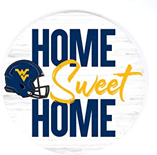 P. Graham Dunn Home Sweet Home Football West Virginia University NCAA 17 x 17 Wood Barrel Top Sign