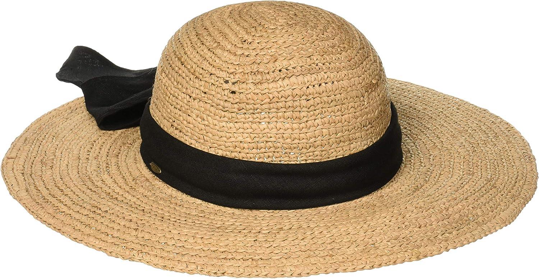Scala Women's One Size Big Brim Raffia Hat