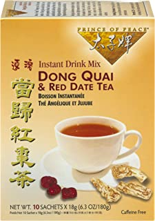 Prince of Peace Dong Quai & Red Date Instant Tea 10 Tea Bags (Pack of 2)