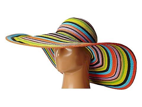 ce76c272ae7 San Diego Hat Company UBX2721 Striped Floppy 8 Inch Brim Sun Hat at ...