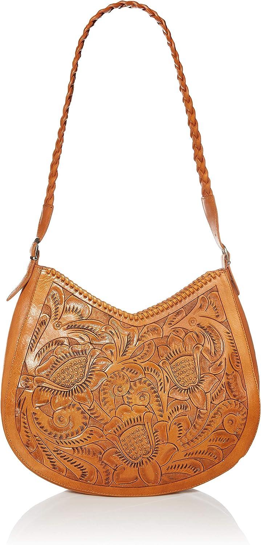 Mauzari Sonoma Women's Large Tooled Leather Hobo Handbag