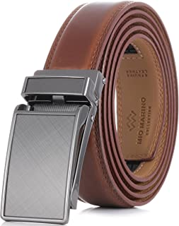 Men's Genuine Leather Ratchet Dress Belt with Linxx Buckle – Gift Box