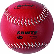 Markwort Weighted 12-Inch Softballs-Leather Cover