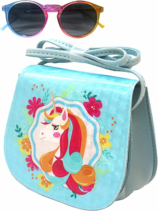 ComicalBubble Unicorn Crossbody Purse for Girls,Gifts Set for Kids,Pink Hats,Glitter Baseball Cap or kawaii accessories