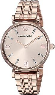 Emporio Armani Women's Dress Watch Quartz Stainless-Steel Strap, Pink, 14 (Model: AR11059)