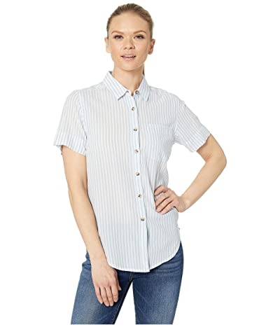 Toad&Co Indigo-for-It Short Sleeve Shirt (Light Indigo Stripe) Women