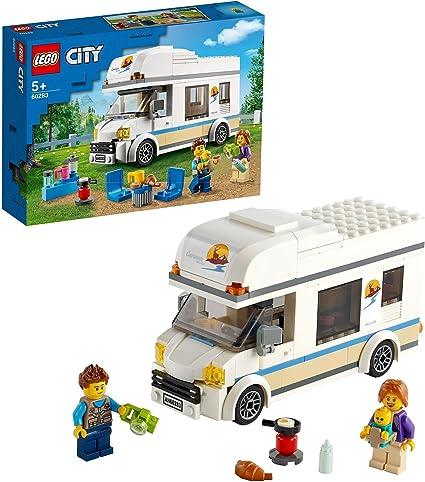 Amazon.nl-LEGO 60283 City Voertuigen Vakantiecamper, Motorhome Speelset, Zomervakantie Verjaardagscadeau voor Jongens en Meisjes met Minifiguren-aanbieding