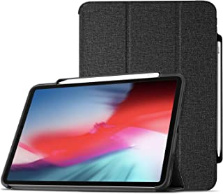 ProCase iPad Pro 11 Case 2018 with Apple Pencil Holder [Support Apple Pencil Charging], Protective Smart Cover Shell Stand Folio Case for Apple iPad Pro 11 Inch 2018 Release –Black
