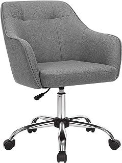 SONGMICS Fauteuil de bureau, Chaise pivotante confortable, Siège ergonomique, réglable en hauteur, charge 120 kg, cadre en...