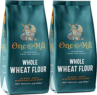 One in a Mill Whole Wheat Flour | 100% All-Natural Unbleached Presifted Bread Flour for Baking Cakes, Pie Crusts & Artisan...