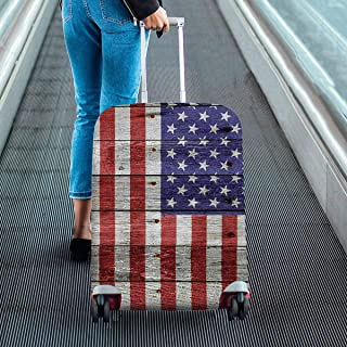 USA flag on wood Print on Suitcase Protectors Dust Proof Luggage Covers Fit 18-28 Inch Luggage