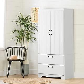 South Shore 12275 Farnel Armoire Pure White