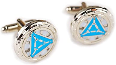 Iron Man Heart Vibranium Reactor Arc Glow Suit Cufflinks Cuff Links Set Pair