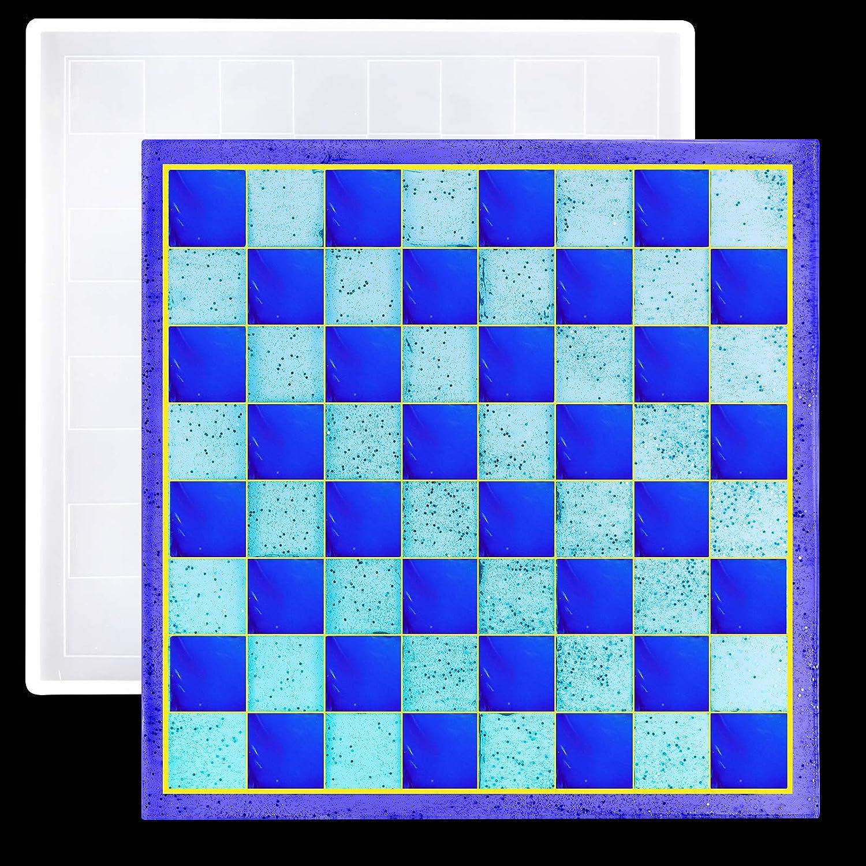 juego de moldes de resina silicona tablero AJEDREZ