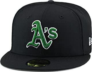 reputable site f1b1b 348a6 New Era Oakland Athletics Fitted Hat Cap Black Green