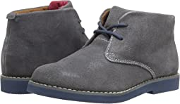 Gray Suede/Blue Bottom