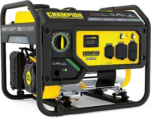 Champion Power Equipment 200965 4375/3500-Watt Dual Fuel Portable Generator RV Ready
