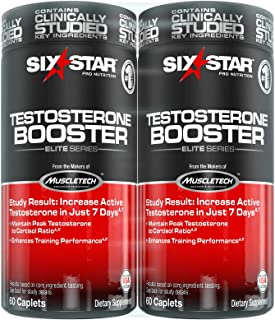 Six Star Elite Series Testosterone Booster, 120 Count