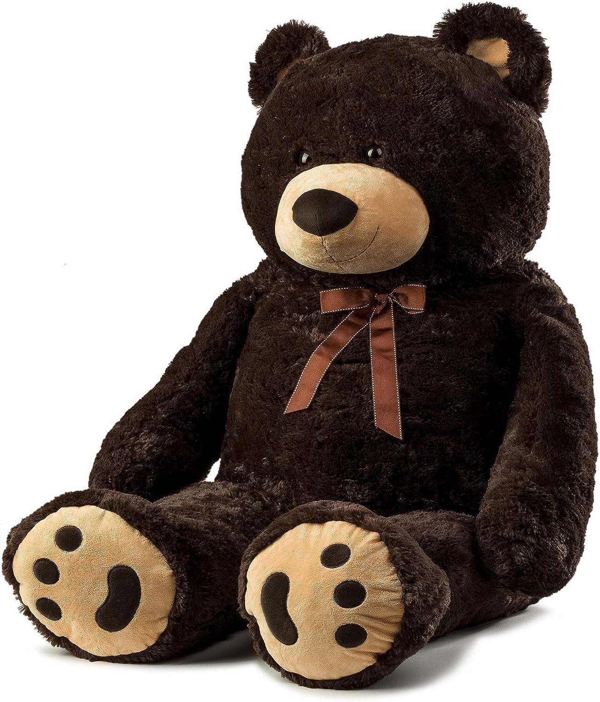 JOON Jumbo Teddy Bear, 5 Feet Tall, Dark Brown