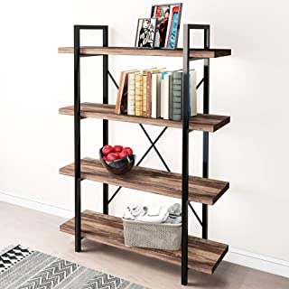 45MinST 4-Tier Vintage Industrial Style Bookcase/Metal...